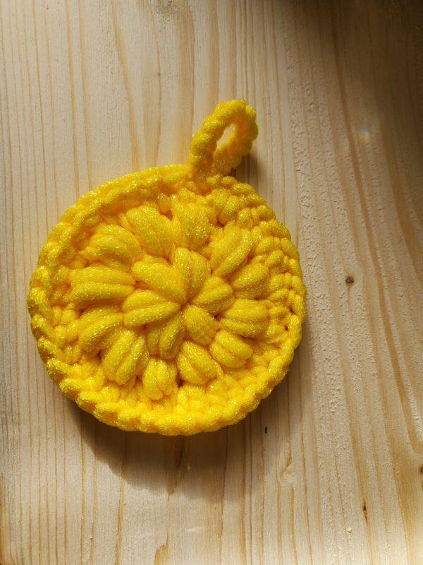 Bright Freakin Yellow Scrubbie